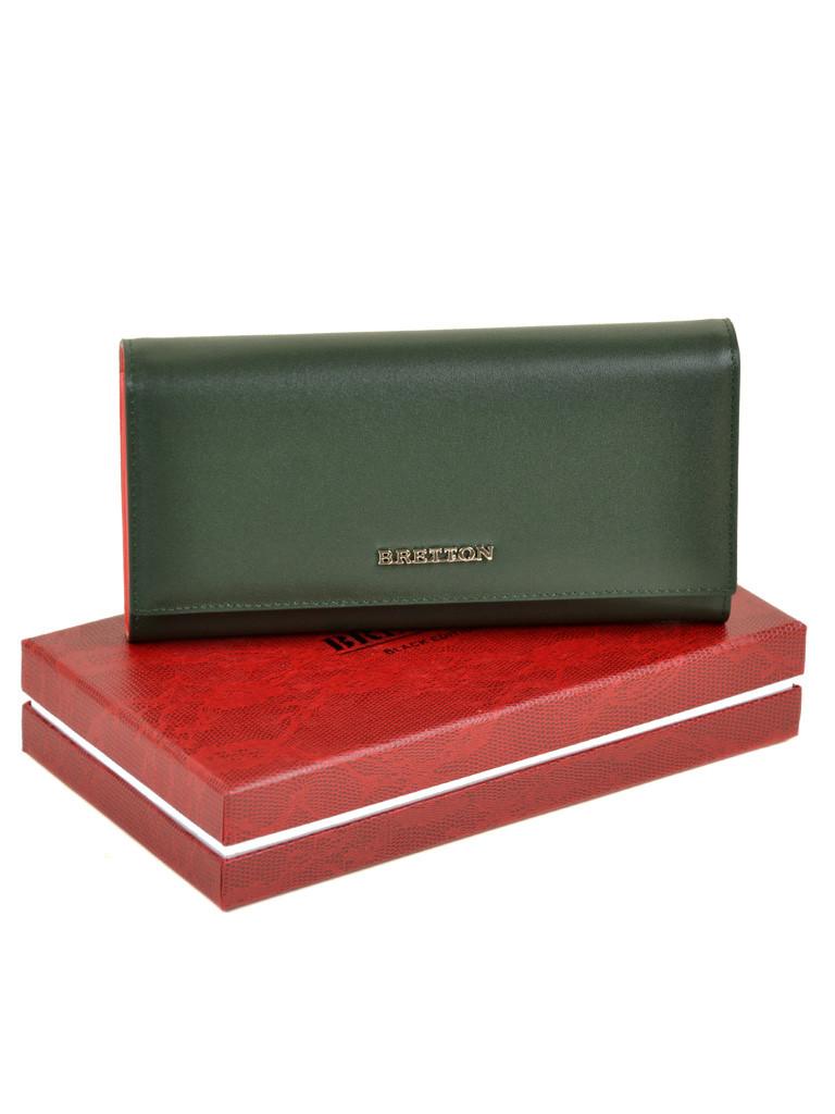 Женский кожаный кошелек Bretton W7237 green