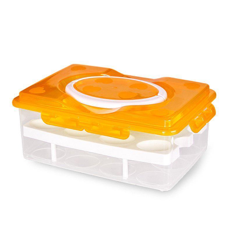 Пластиковые боксы, Цвет - оранжевый, емкость для яиц