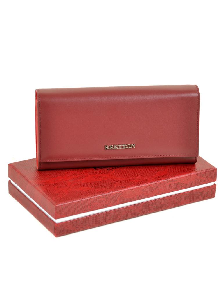 Женский кожаный кошелек Bretton W7237 d-red