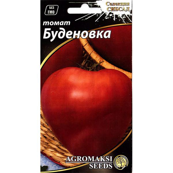 """Насіння томату для відкритого грунту і укриттів, високорослого """"Будьонівка"""" (0,1 г) від Agromaksi seeds"""