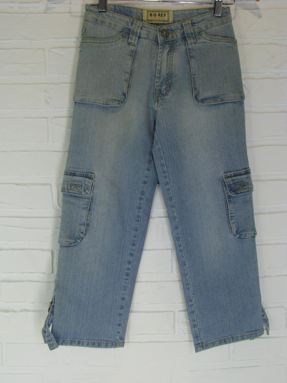 Капрі жіночі джинсові 1844.22 світло-сині 26, 28