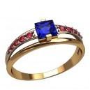 Кольцо для помолвки - Сапфир