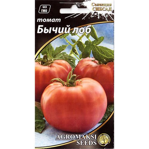 """Насіння томату раннього, для відкритого грунту і теплиць """"Бичачий лоб"""" (0,1 г) від Agromaksi seeds"""