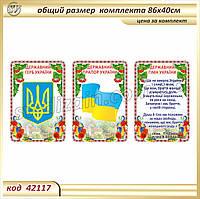 Герб, Прапор і Гімн України - на пластику