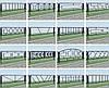 Забор металлический для оргаждения газона