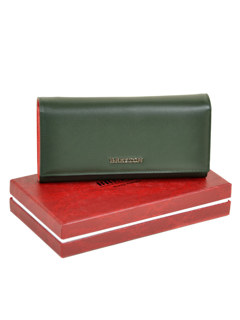 Женский кожаный кошелек Bretton W7232 green