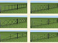 Забор металлический для оргаждения тротуара