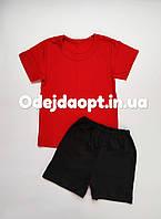 Комплект для физкультуры красная футболка и черные шорты