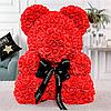 Уникальный мишка из 3d роз Happy Teddy 40 см красный в подарочной коробке , фото 3