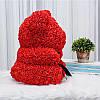 Уникальный мишка из 3d роз Happy Teddy 40 см красный в подарочной коробке , фото 6