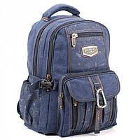 Синий рюкзак с брезента  GoldBe арт. B757Navy
