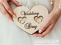 """Шкатулка для колец, подставка под кольца """"Сердце Wedding Day"""""""