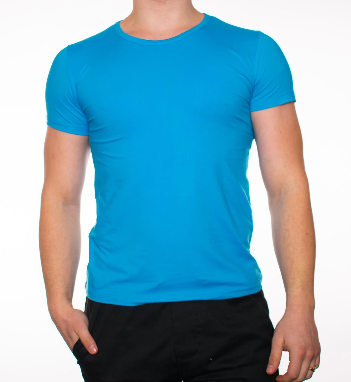 "Чоловіча футболка ""JUST"" блакитна"