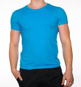 "Мужская футболка ""JUST"" голубая"
