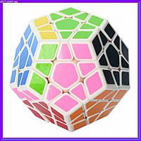 Мегаминкс Кубик Рубика 0934C-5 QiYi X-Man Megaminx (Plane White-Base) 8 см, фото 1