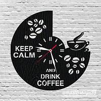 Интерьерные настенные часы (настінні годинники) KEEP CALM AND DRINK COFFEE