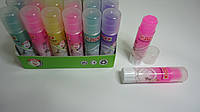 """Клей-карандаш Цветной """"Радужный Stick Розовый"""",8гр,силикатный для школы и офиса.Клей-олівець Кольоровий сухий"""