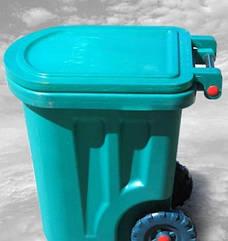 Бак для сміття пластиковий, на колесах, 90л, Од