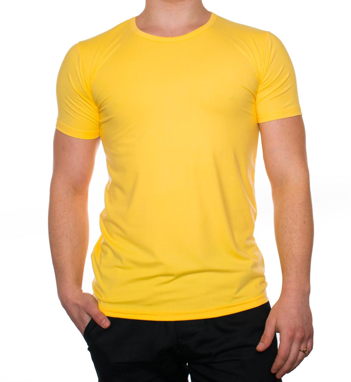 """Мужская футболка """"JUST"""" желтая"""