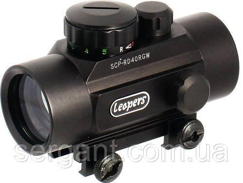 Прицел коллиматорный закрытого типа 1х30 Leapers UTG SCP-RD40RGW , США