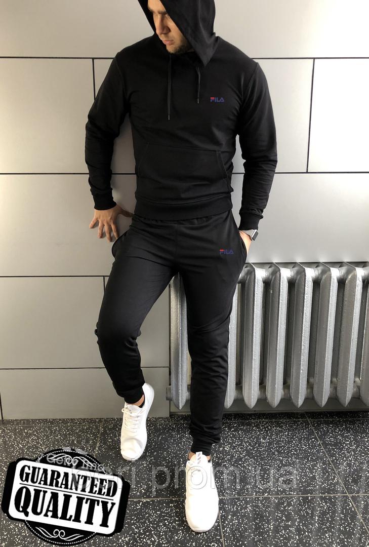 Мужской спортивный костюм Fila | Фила | Костюм спортивний Філа (Черный)