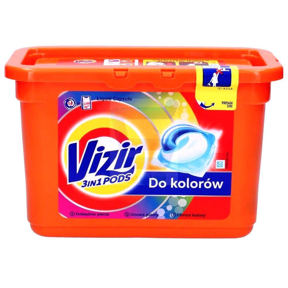 Гель-Капсулы Для Стирки Vizir Pods Color Для Цветного Белья, 16 Штук * 24,8 Г (Код:1735) Состояние: НОВОЕ