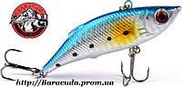 Воблер Раттлин ZUOFILY тонущий бело-голубой 80 мм