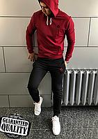 Мужской спортивный костюм Reebok | Рибок | Спортивний костюм Рібок (Бордово-Черный)