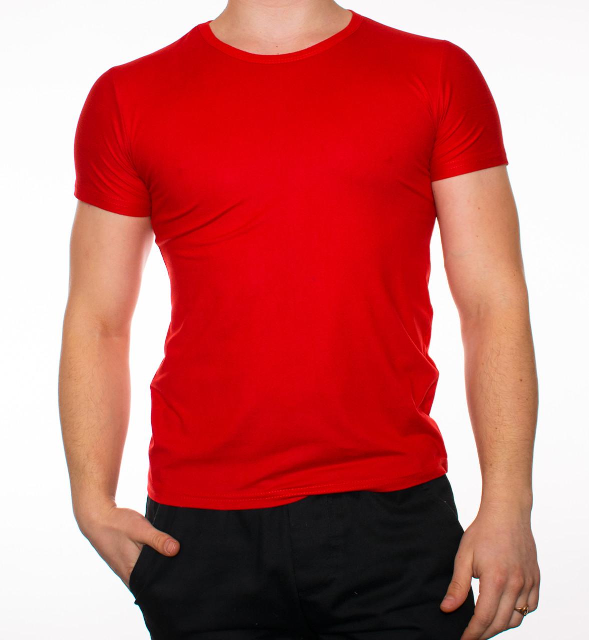 """Мужская футболка """"JUST"""" красная"""