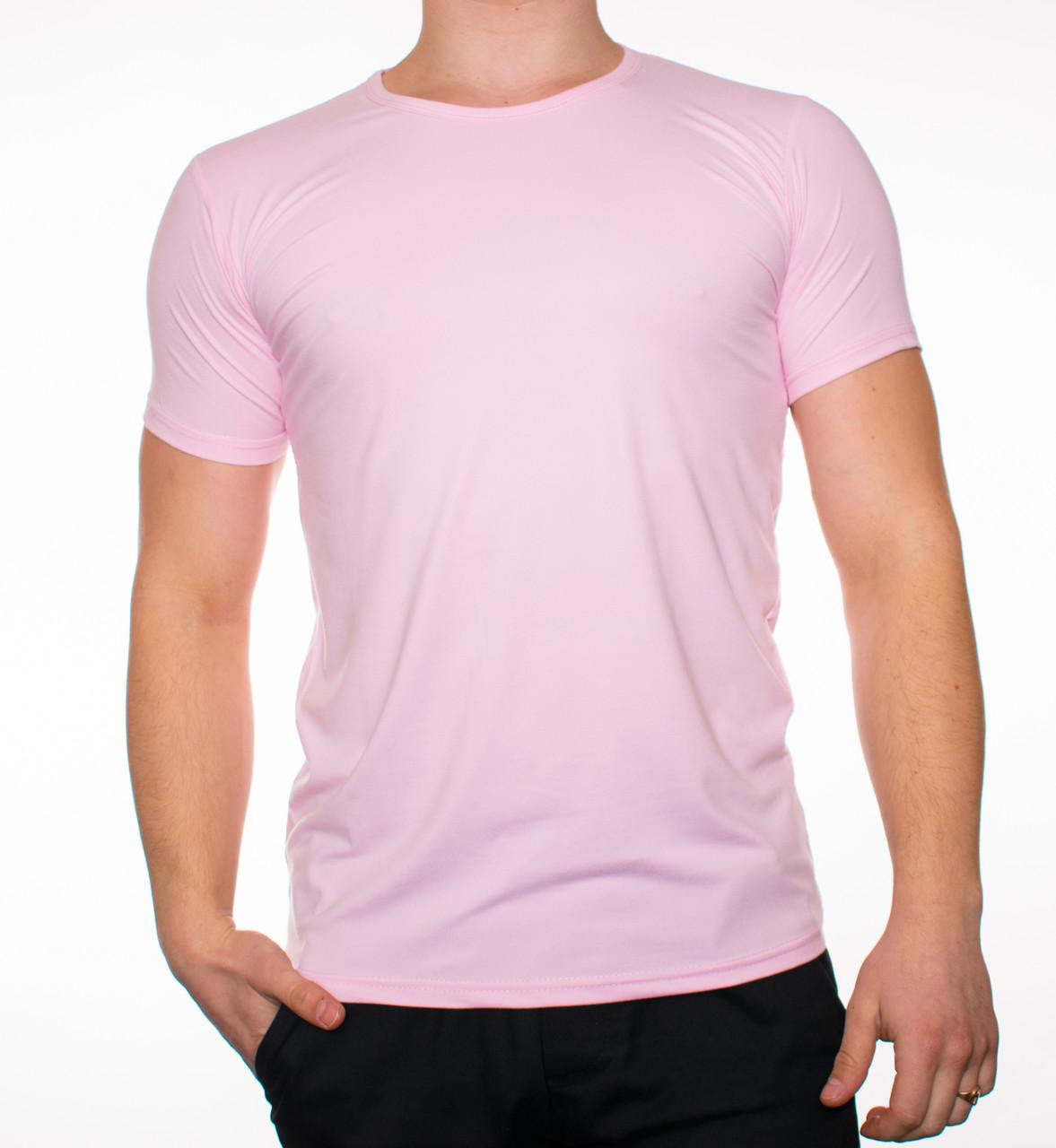 """Мужская футболка """"JUST"""" розовая  50"""