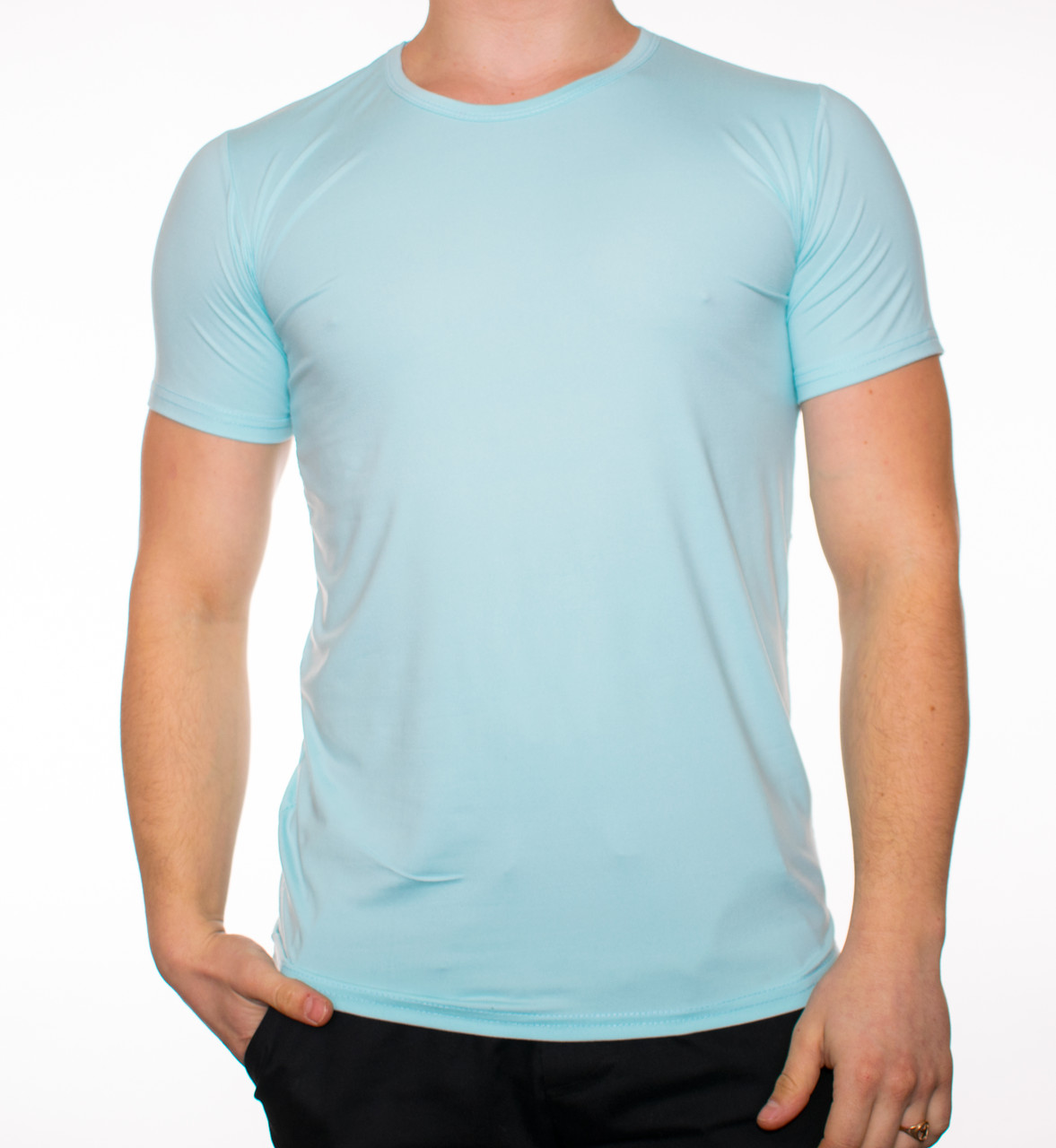 """Мужская футболка """"JUST"""" светло-голубая"""