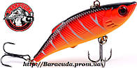 Воблер Раттлин ZUOFILY тонущий желто-красный 80 мм