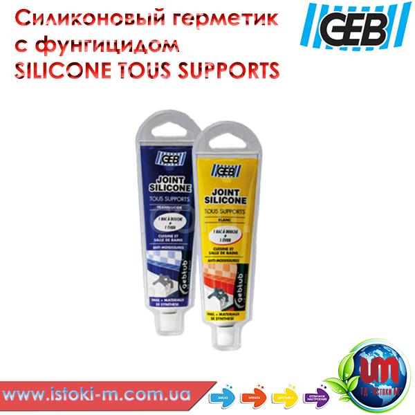 Силиконовый герметик SILICONE TOUS SUPPORTS прозрачный, 100 мл., фото 1