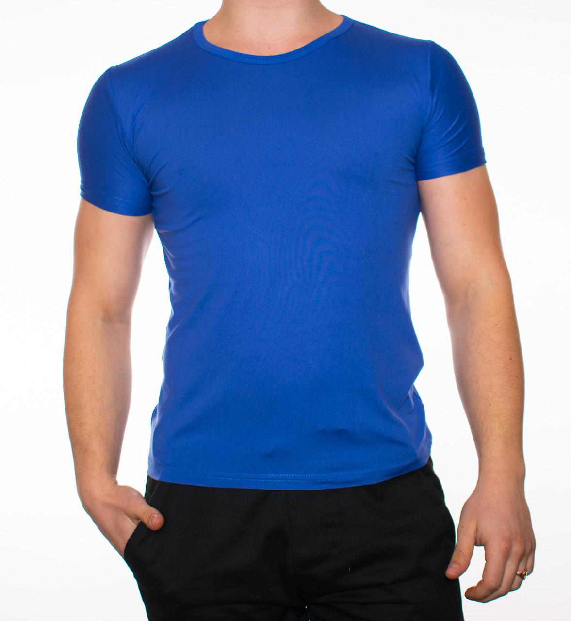 """Мужская футболка """"JUST"""" синий"""