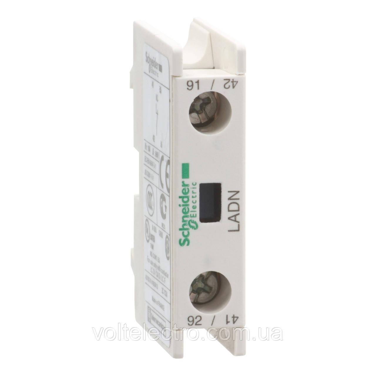 Блок контактный дополнительный к LC1-D фронтальный  1NO