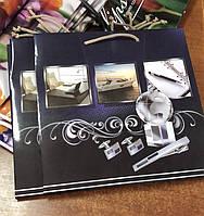 Подарочный бумажный пакет КВАДРАТ ''Лакшери'' (24*24*10)