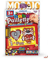 Картина-мозаика из пайеток  Baby Paillette: Котик