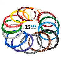 Набор ABS пластика Plexiwire для 3D ручки 1.75 мм / 150 метров (15 цветов по 10 м)      (67567556)