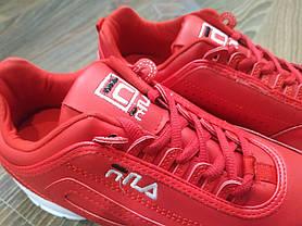 Розміри: 36, 38 Fila Disruptor Червоні кросівки   точна копія   жіночі, фото 3