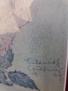Картина Натюрморт G.Cofing 1949 год  Австрия, фото 2