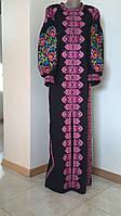 Сукня вишита чорна домоткане полотно розмір S, фото 1