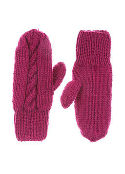 Варежки Pure Wool one size малиновый (SE-7612_Crimson)