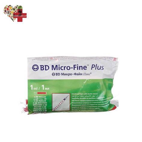 Шприцы БД Микро Файн Плюс U-40 (BD Micro Fine Plus) 1 мл, фото 2