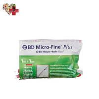 Шприцы БД Микро Файн Плюс U-40 (BD Micro Fine Plus) 1 мл