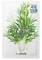 Тканевая маска с экстрактом чайного дерева The Saem Natural Tea Tree Mask Sheet 21 мл (8806164158838)