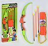 Детский Лук 881-09 со стрелам на присосках 3шт  колчан для стрел в  коробке