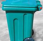 Бак для мусора пластиковый, на колесах, 110л Консенсус, фото 2