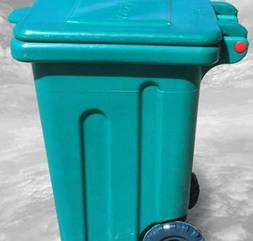 Бак для сміття пластиковий, на колесах, 110л, Од