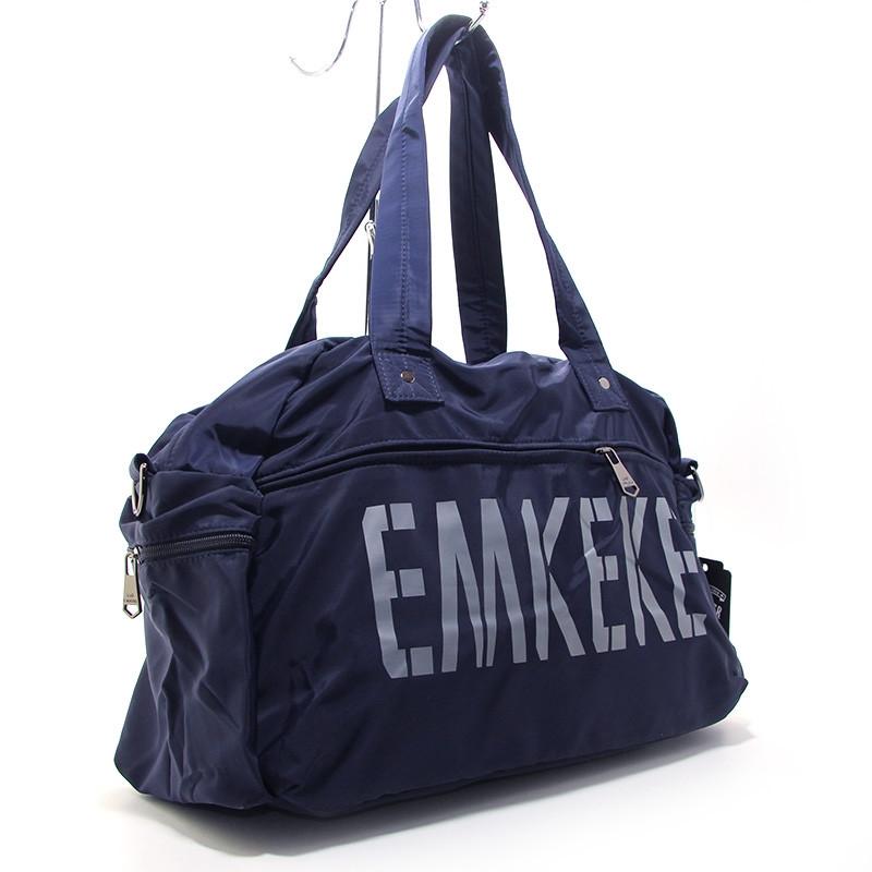 Сумка дорожная, спортивная, пляжная текстильная синяя Emkeke 108