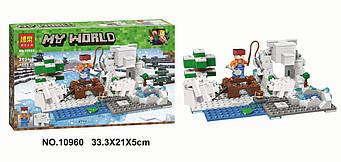"Конструктор Bela 10960 ""Зимова риболовля"" 215 деталей (аналог Lego Майнкрафт, Minecraft)"